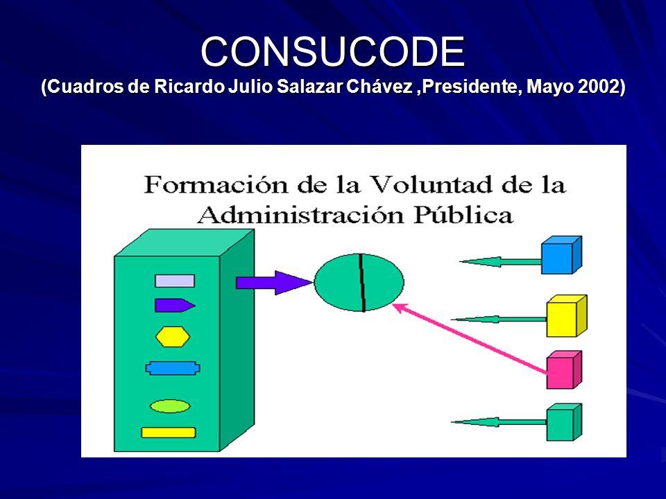 CONSUCODE (Cuadros de Ricardo Julio Salazar Chávez,Presidente, Mayo 2002)