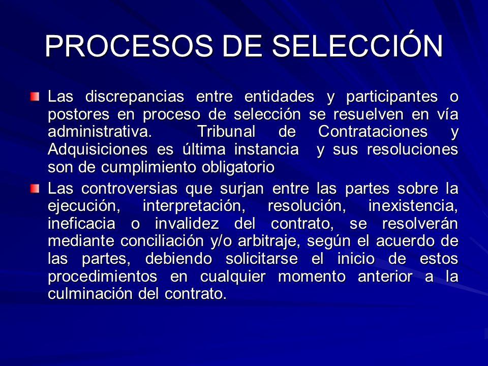 PROCESOS DE SELECCIÓN Las discrepancias entre entidades y participantes o postores en proceso de selección se resuelven en vía administrativa. Tribuna
