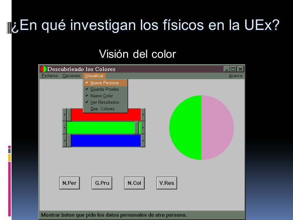Visión del color ¿En qué investigan los físicos en la UEx?