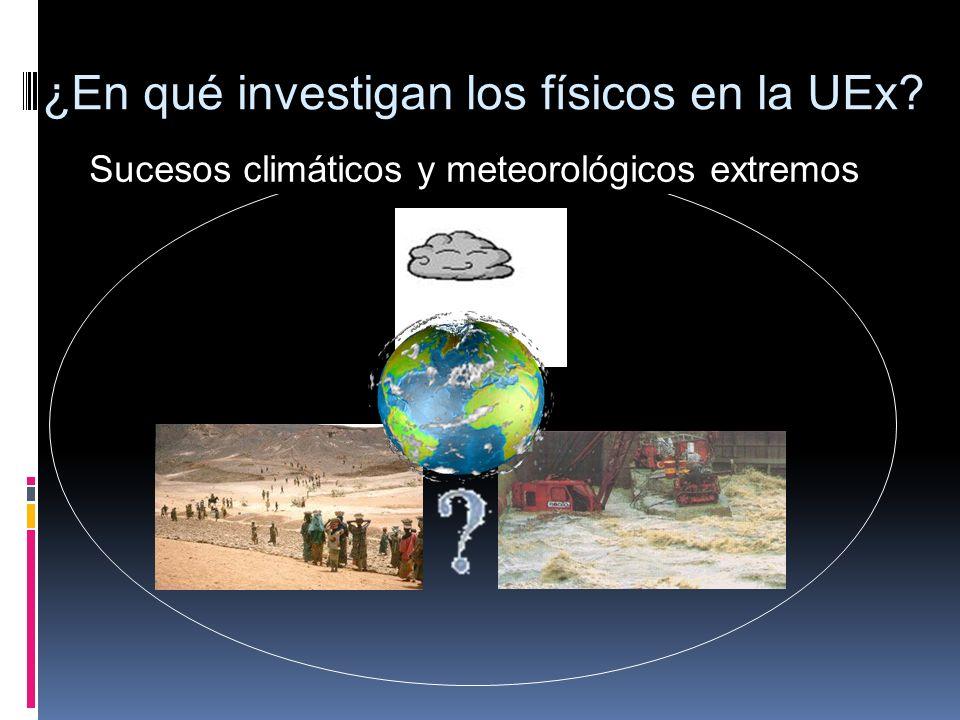 Sucesos climáticos y meteorológicos extremos