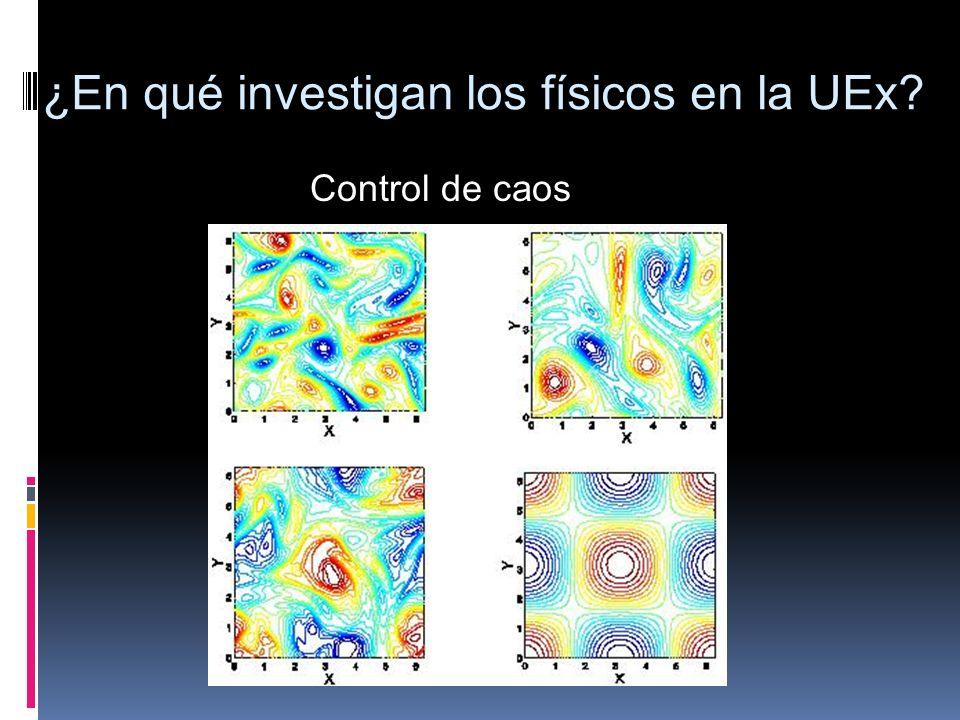 Control de caos ¿En qué investigan los físicos en la UEx?