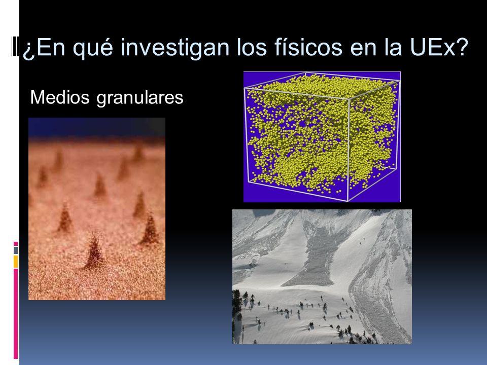 Medios granulares ¿En qué investigan los físicos en la UEx?