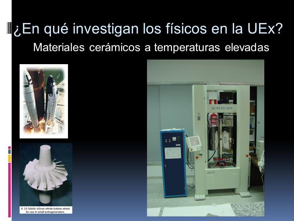 ¿En qué investigan los físicos en la UEx? Materiales cerámicos a temperaturas elevadas