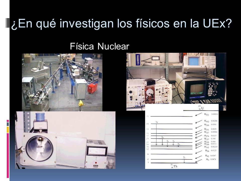 ¿En qué investigan los físicos en la UEx? Física Nuclear