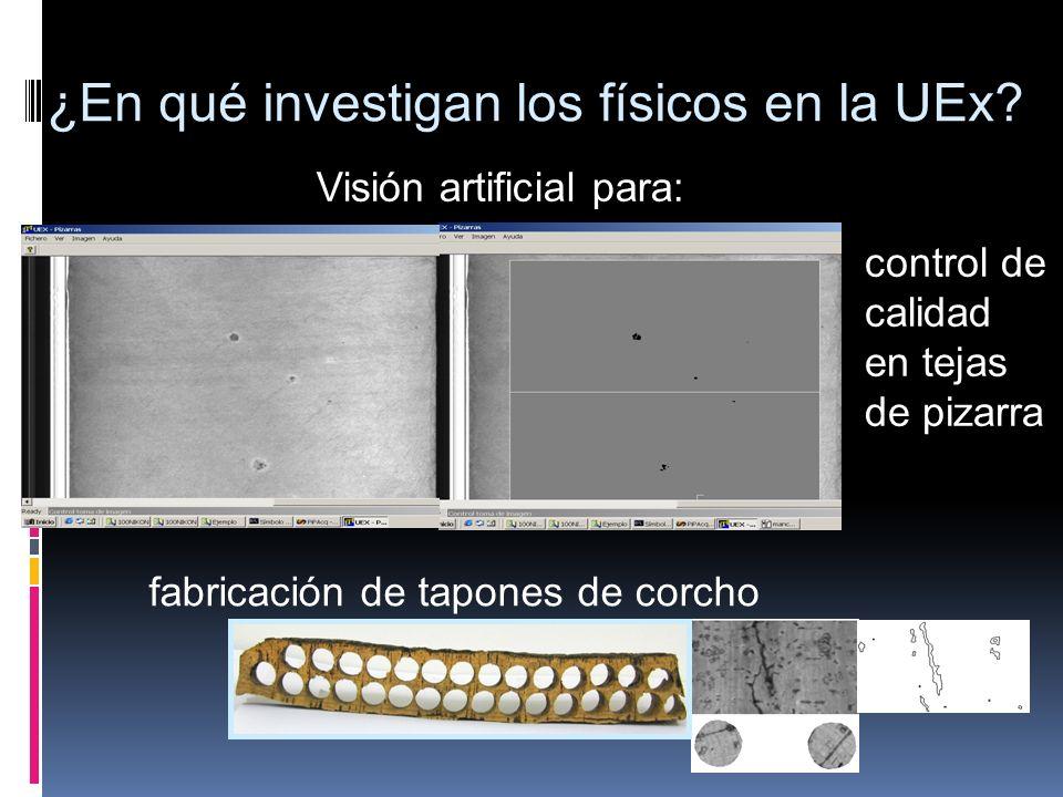 ¿En qué investigan los físicos en la UEx? Visión artificial para: control de calidad en tejas de pizarra fabricación de tapones de corcho
