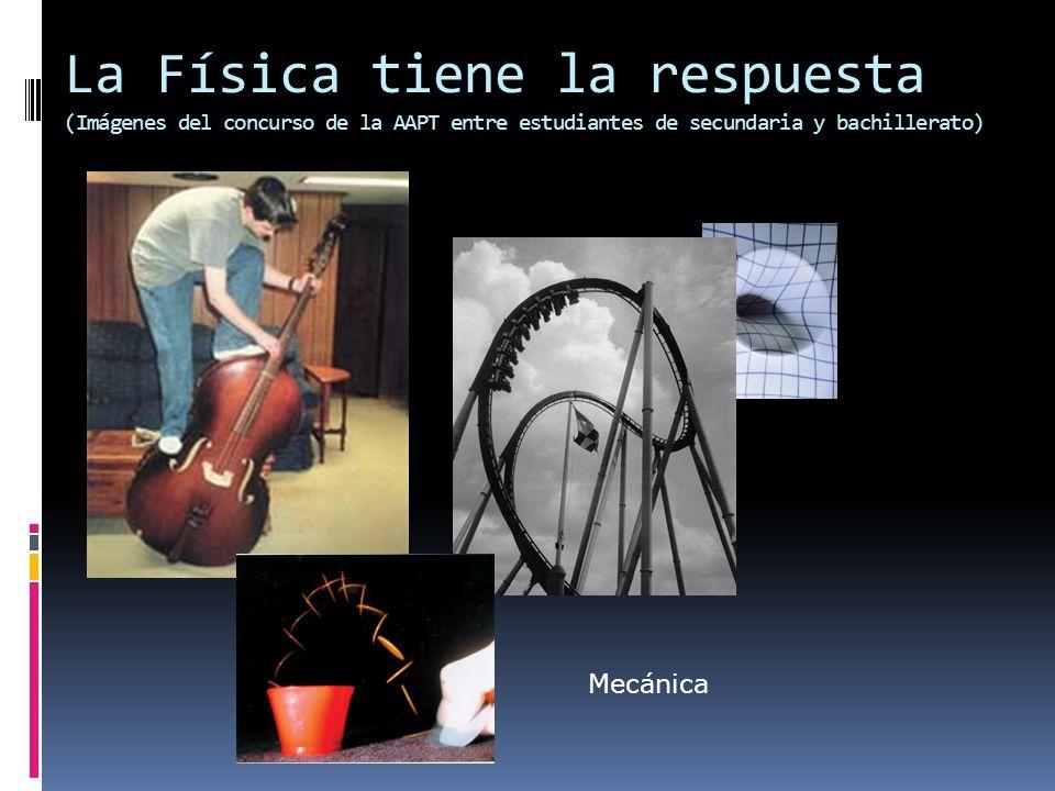 La Física tiene la respuesta (Imágenes del concurso de la AAPT entre estudiantes de secundaria y bachillerato) Mecánica