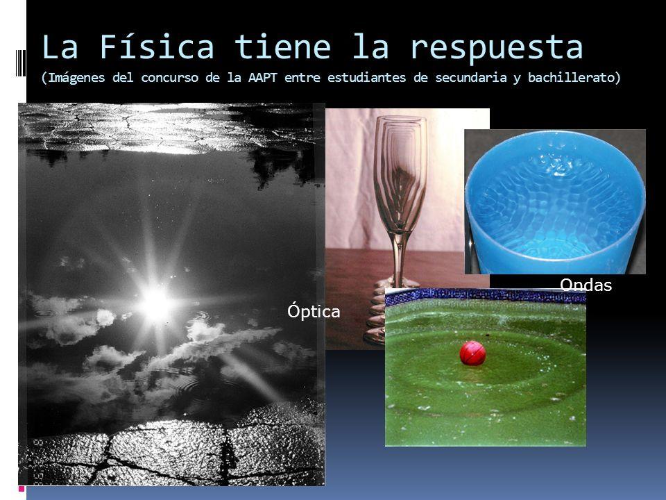 La Física tiene la respuesta (Imágenes del concurso de la AAPT entre estudiantes de secundaria y bachillerato) Óptica Ondas