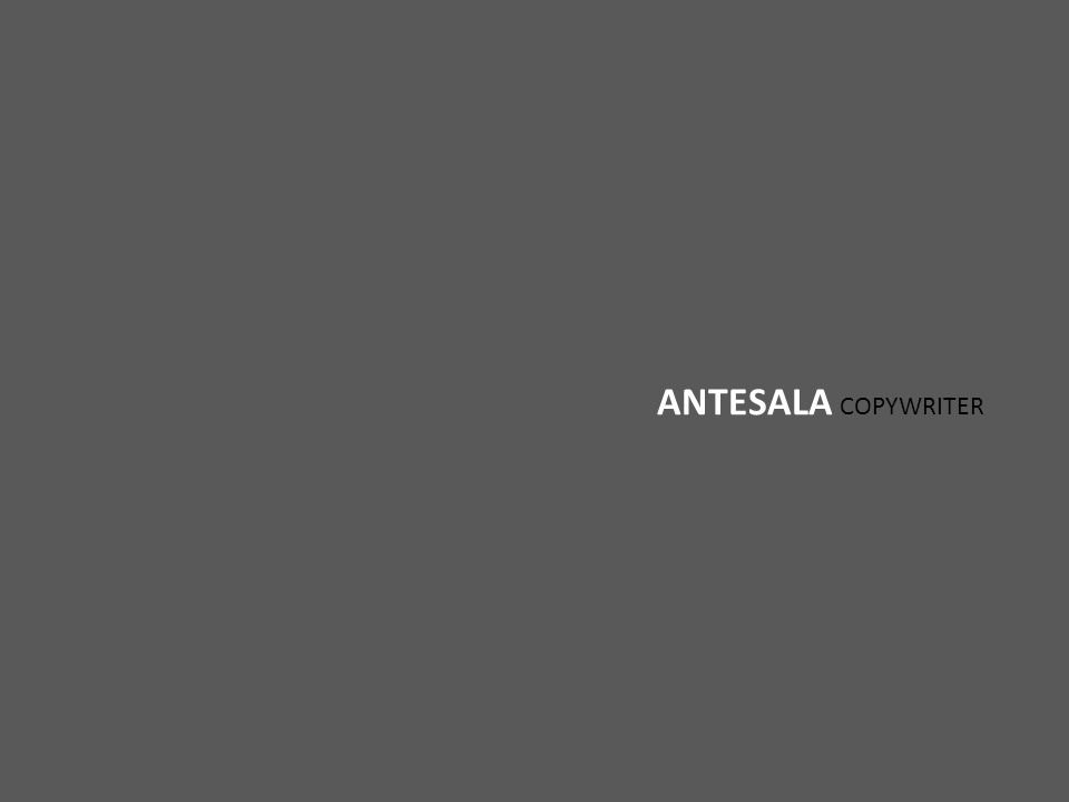 ANTESALA COPYWRITER