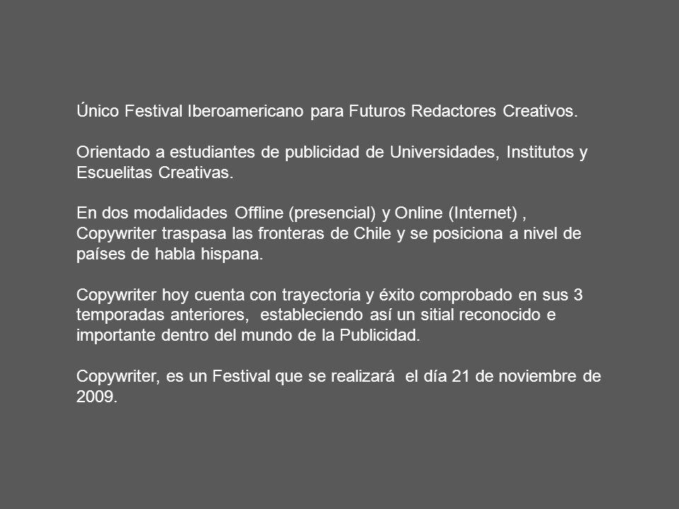 Único Festival Iberoamericano para Futuros Redactores Creativos.