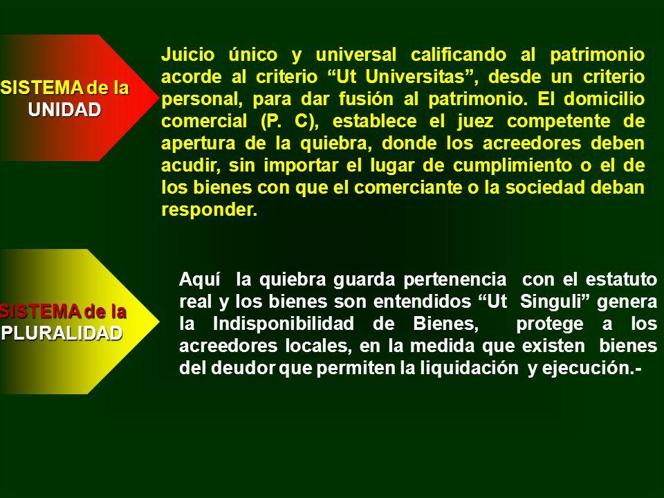 Juicio único y universal calificando al patrimonio acorde al criterio Ut Universitas, desde un criterio personal, para dar fusión al patrimonio. El do