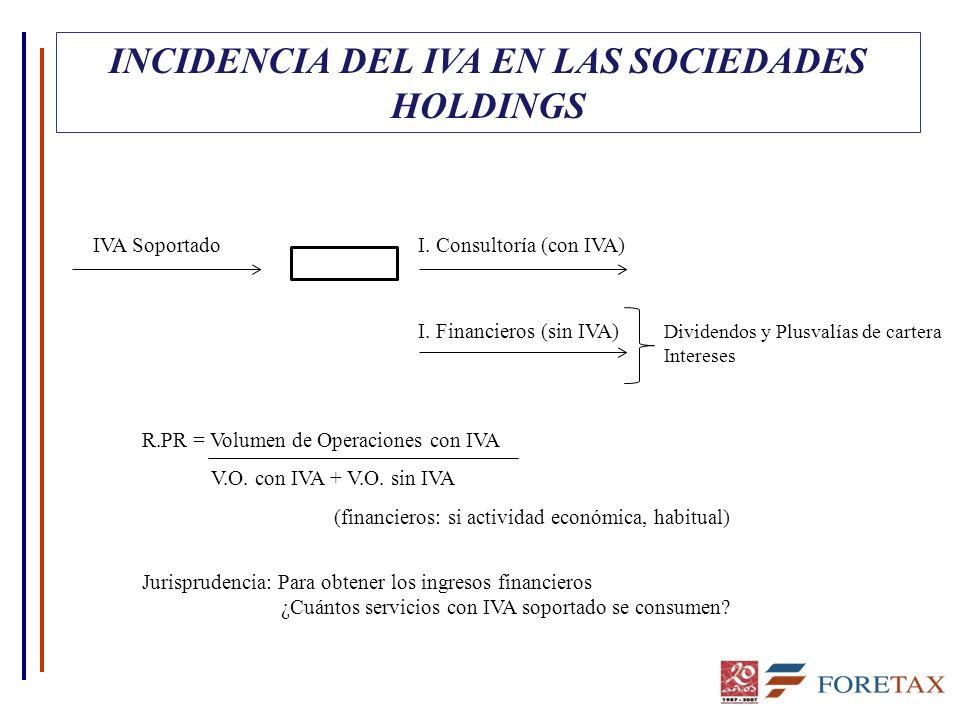 INCIDENCIA DEL IVA EN LAS SOCIEDADES HOLDINGS IVA Soportado I.