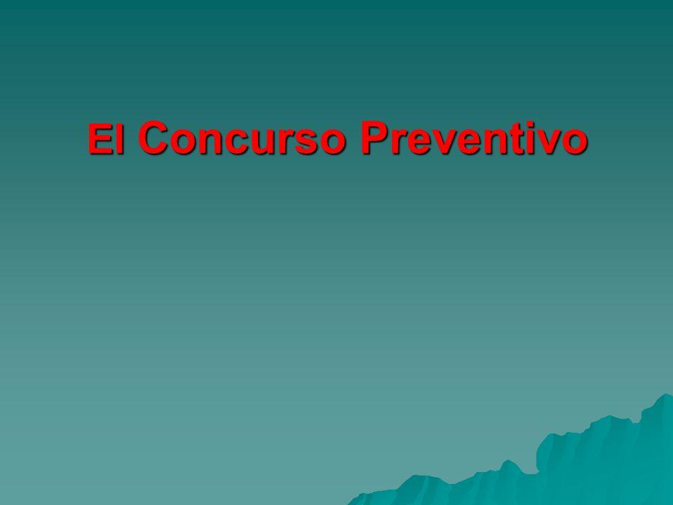 El Concurso Preventivo