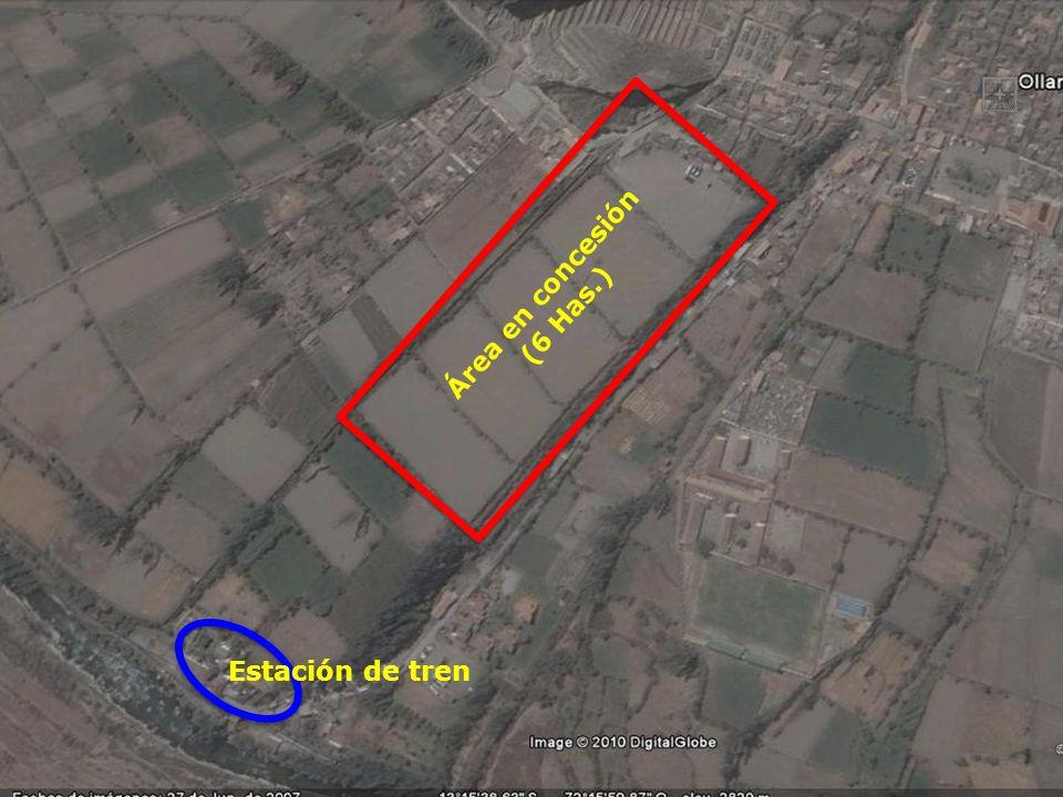 Estación de tren Área en concesión (6 Has.)