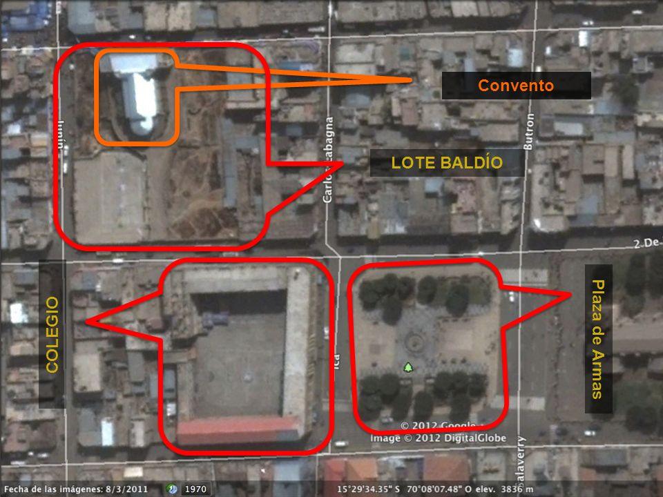 Plaza de Armas COLEGIO Convento LOTE BALDÍO