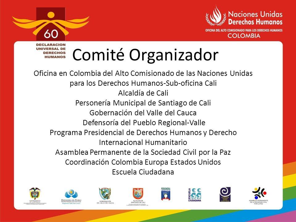 Comité Organizador Oficina en Colombia del Alto Comisionado de las Naciones Unidas para los Derechos Humanos-Sub-oficina Cali Alcaldía de Cali Persone
