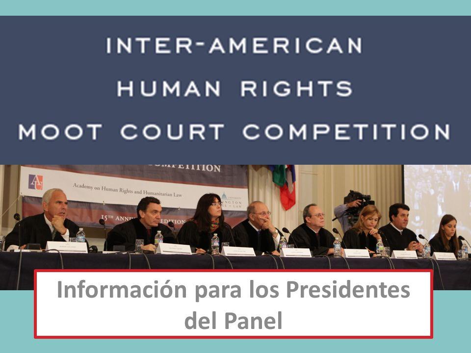 Información para los Presidentes del Panel