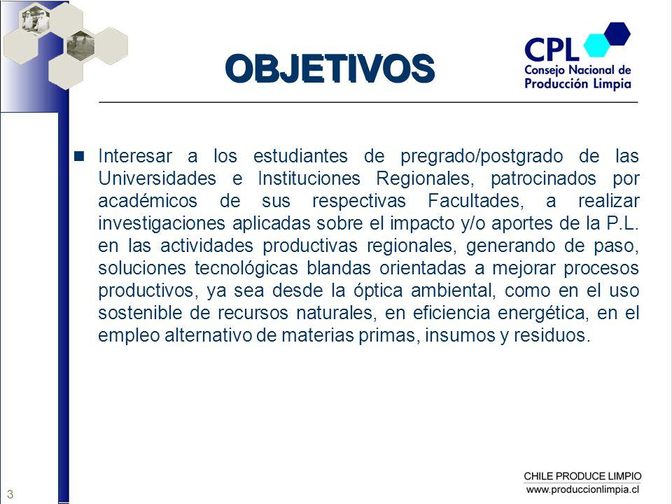 14 TEMAS PROPUESTOS Promoción, desarrollo, fomento y aplicaciones de la Biotecnología a la Producción Limpia Evaluación Técnico-económica y Aporte de las Energías Renovables No Convencionales en el marco de los APLs Accesibilidad de las MIPYMES a las Innovación Tecnológica para implementar la PL: Obstáculos y Avances Introducción de las Mejores Tecnologías Disponibles (MDT) en los principales sectores productivos de la RBB Impactos de las PL en la Productividad y Gestión Ambiental de la PYME