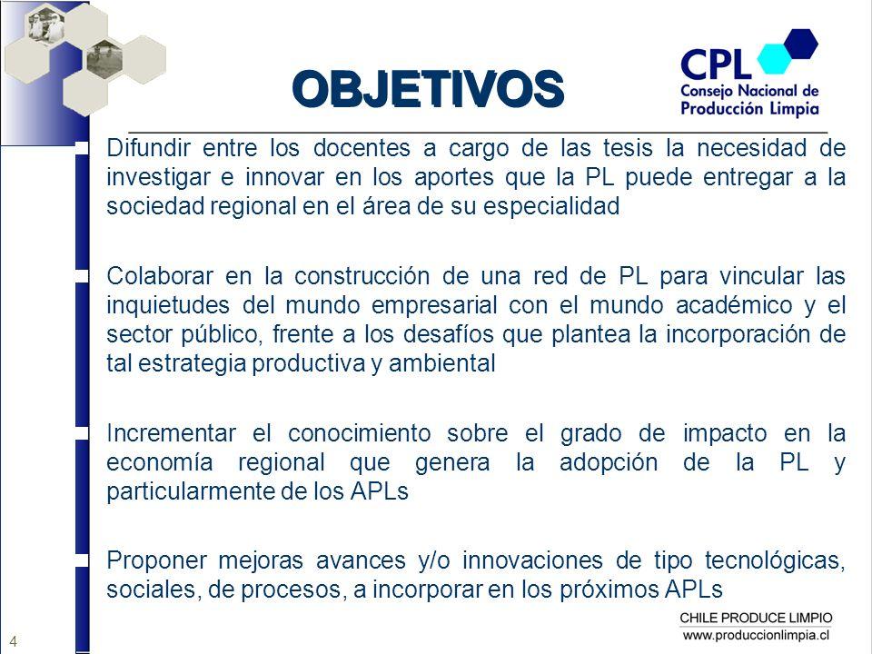 15 TEMAS PROPUESTOS La PL como agente de desarrollo de la Responsabilidad Social en las empresas de la Región de Los Ríos y Los Lagos.