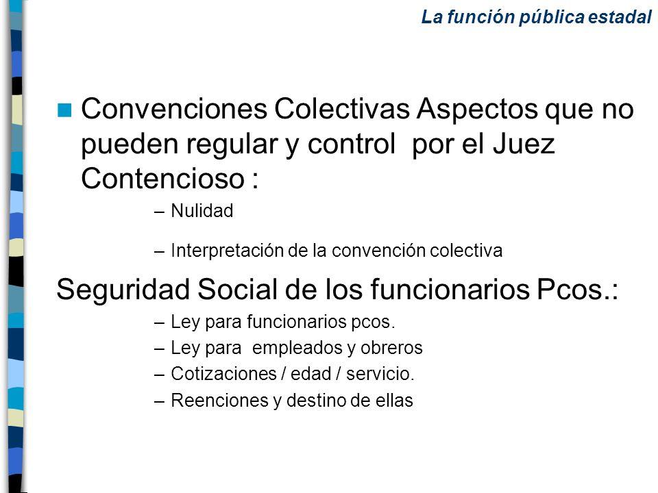 Convenciones Colectivas Aspectos que no pueden regular y control por el Juez Contencioso : –Nulidad –Interpretación de la convención colectiva Segurid