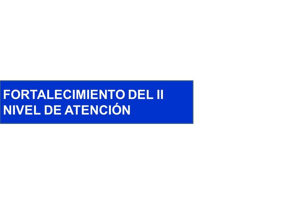 FORTALECIMIENTO DEL II NIVEL DE ATENCIÓN