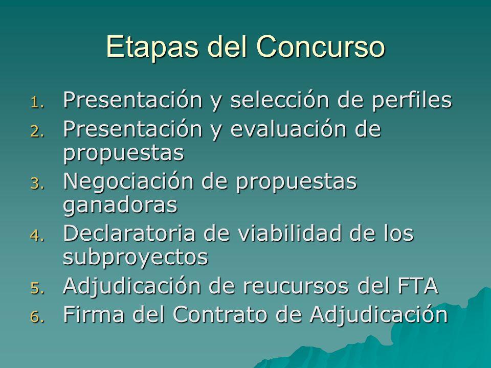 Etapas del Concurso 1. Presentación y selección de perfiles 2.