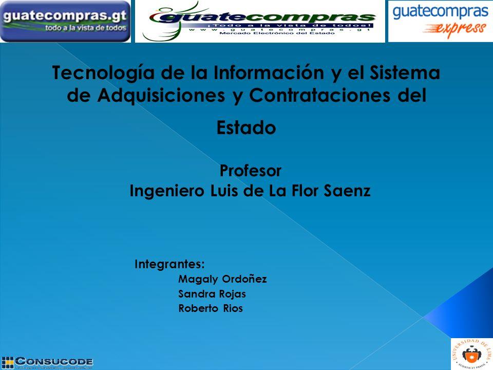 Integrantes: Magaly Ordoñez Sandra Rojas Roberto Rios Profesor Ingeniero Luis de La Flor Saenz
