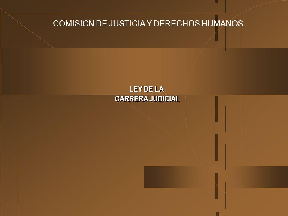 COMISION DE JUSTICIA Y DERECHOS HUMANOS LEY DE LA CARRERA JUDICIAL CARRERA JUDICIAL