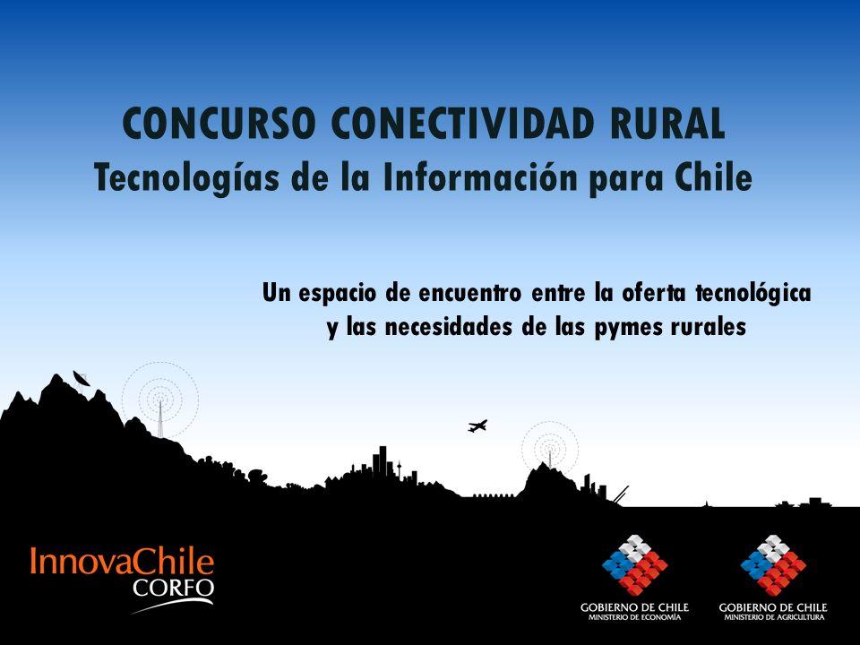 CONCURSO CONECTIVIDAD RURAL Tecnologías de la Información para Chile Un espacio de encuentro entre la oferta tecnológica y las necesidades de las pyme