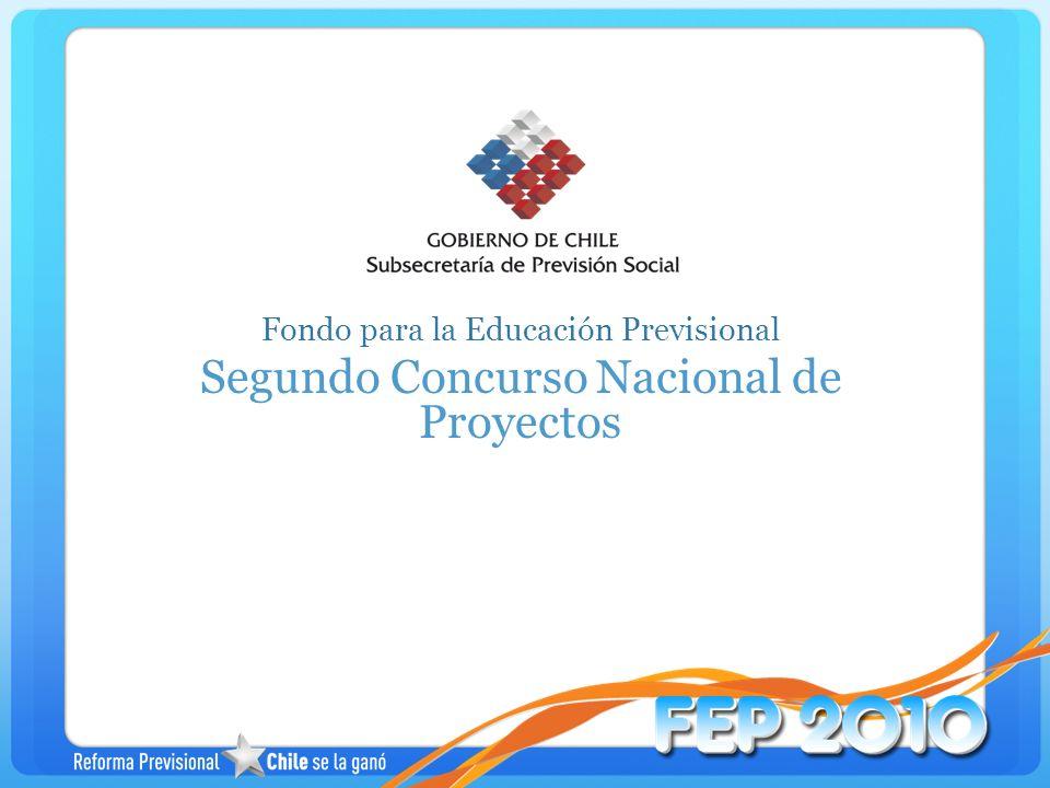 Temario Antecedentes Generales Bases Segundo Concurso FEP Selección de Propuestas Documentos para postular