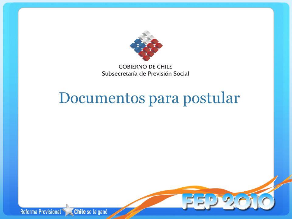 Documentos para postular