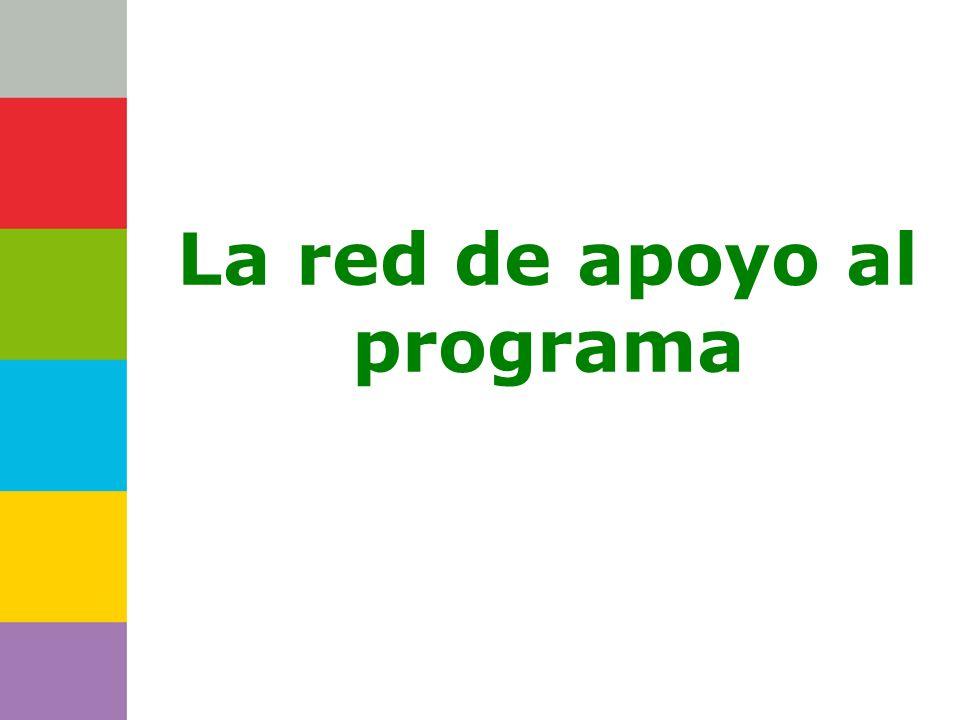 La red de apoyo al programa