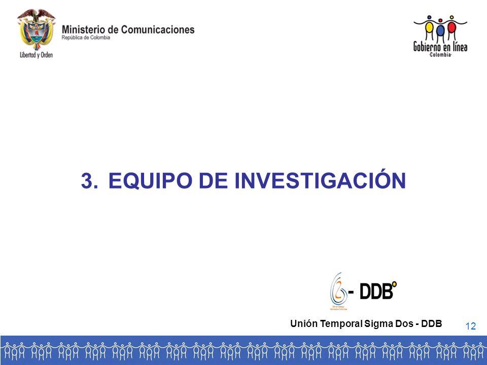 3.EQUIPO DE INVESTIGACIÓN - Unión Temporal Sigma Dos - DDB 12
