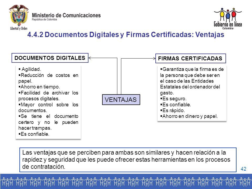 VENTAJAS DOCUMENTOS DIGITALES FIRMAS CERTIFICADAS Agilidad.