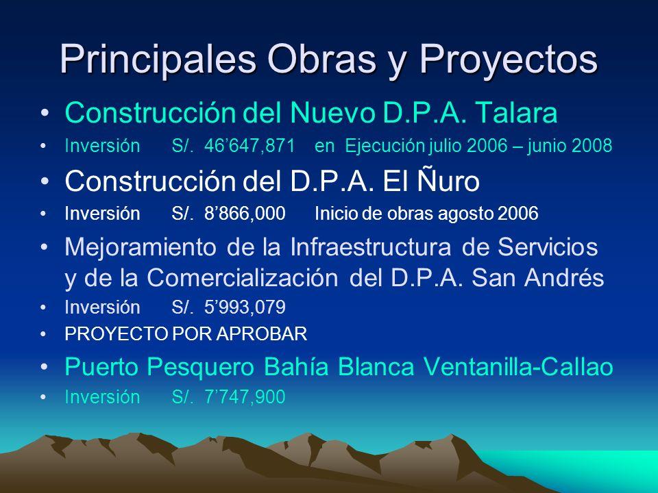 Principales Obras y Proyectos Construcción del Nuevo D.P.A.