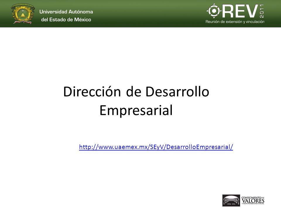 Dirección de Desarrollo Empresarial http://www.uaemex.mx/SEyV/DesarrolloEmpresarial/