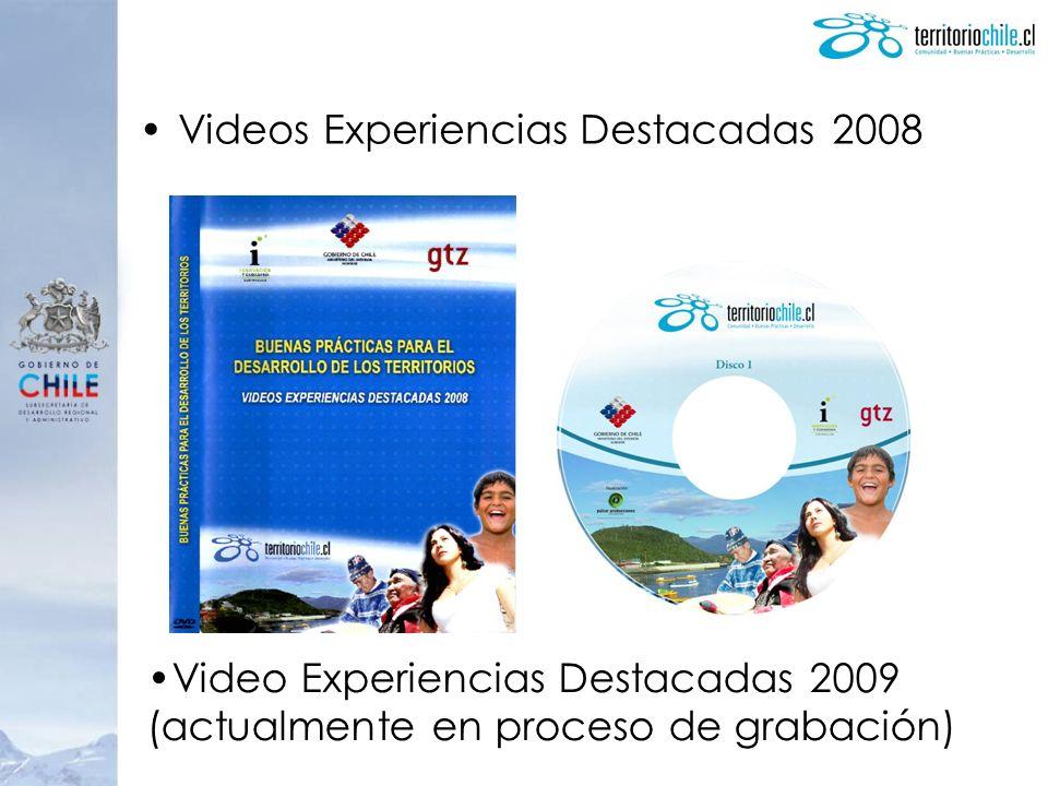 Videos Experiencias Destacadas 2008 Video Experiencias Destacadas 2009 (actualmente en proceso de grabación)