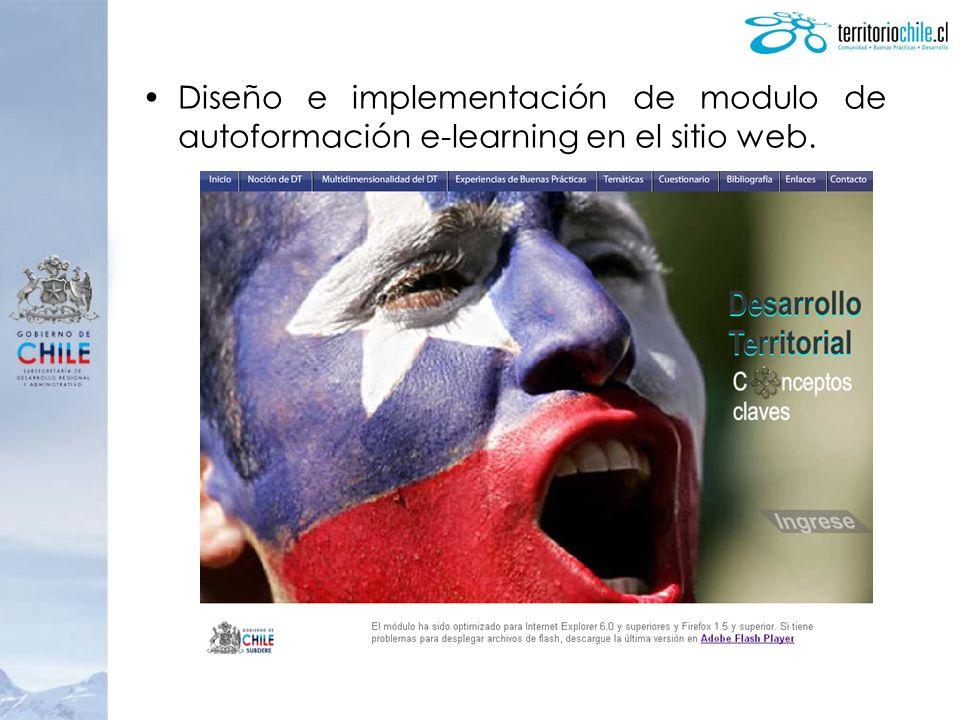Diseño e implementación de modulo de autoformación e-learning en el sitio web.