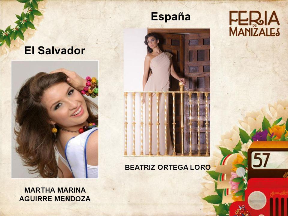 El Salvador MARTHA MARINA AGUIRRE MENDOZA España BEATRIZ ORTEGA LORO