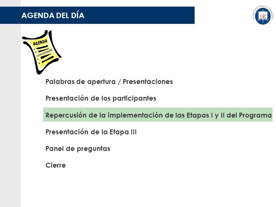 DESARROLLO DE LA ETAPA II Seguimiento y acompañamiento de la Fundación H.