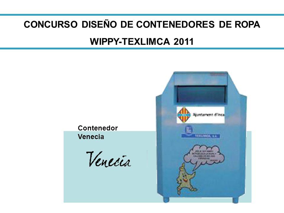 CONCURSO DISEÑO DE CONTENEDORES DE ROPA WIPPY-TEXLIMCA 2011 Contenedor Venecia