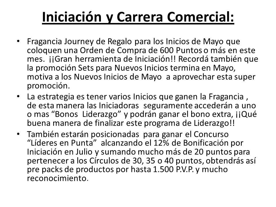 Iniciación y Carrera Comercial: Fragancia Journey de Regalo para los Inicios de Mayo que coloquen una Orden de Compra de 600 Puntos o más en este mes.