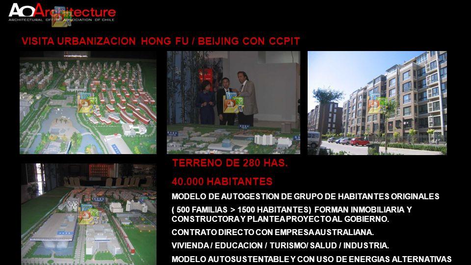 VISITA URBANIZACION HONG FU / BEIJING CON CCPIT TERRENO DE 280 HAS. 40.000 HABITANTES MODELO DE AUTOGESTION DE GRUPO DE HABITANTES ORIGINALES ( 500 FA