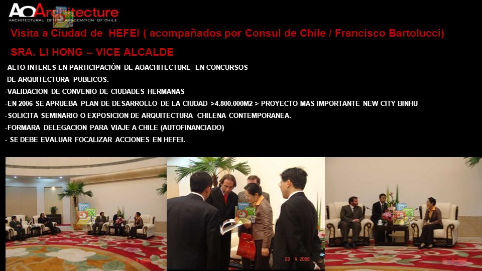 Visita a PROYECTO NEW CITY BINHU / HEFEI SR.