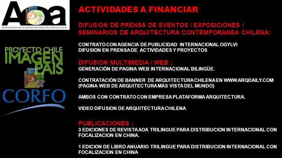 DIFUSION DE PRENSA DE EVENTOS / EXPOSICIONES / SEMINARIOS DE ARQUITECTURA CONTEMPORANEA CHILENA: CONTRATO CON AGENCIA DE PUBLICIDAD INTERNACIONAL OGYL