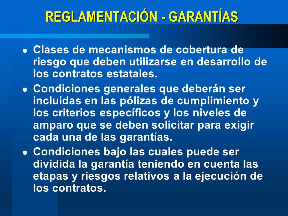 REGLAMENTACIÓN - OTROS TEMAS Compilación normas: Estatuto General de Contratación de la Administración Pública.