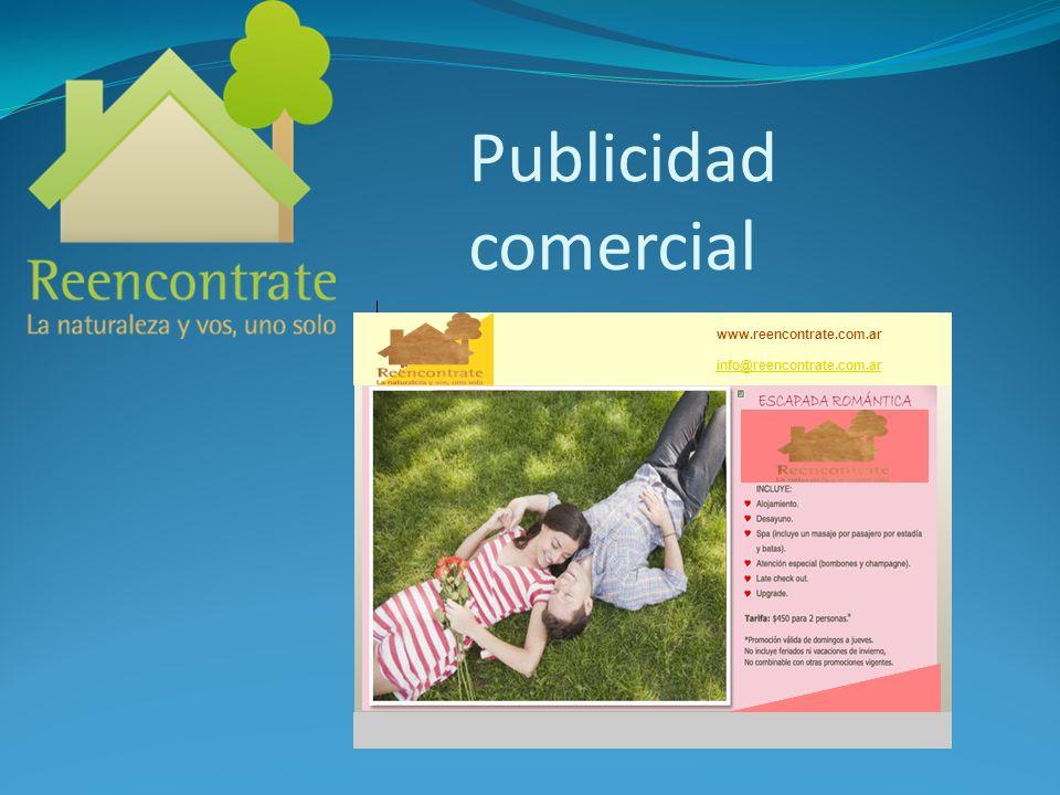 Publicidad comercial www.reencontrate.com.ar info@reencontrate.com.ar