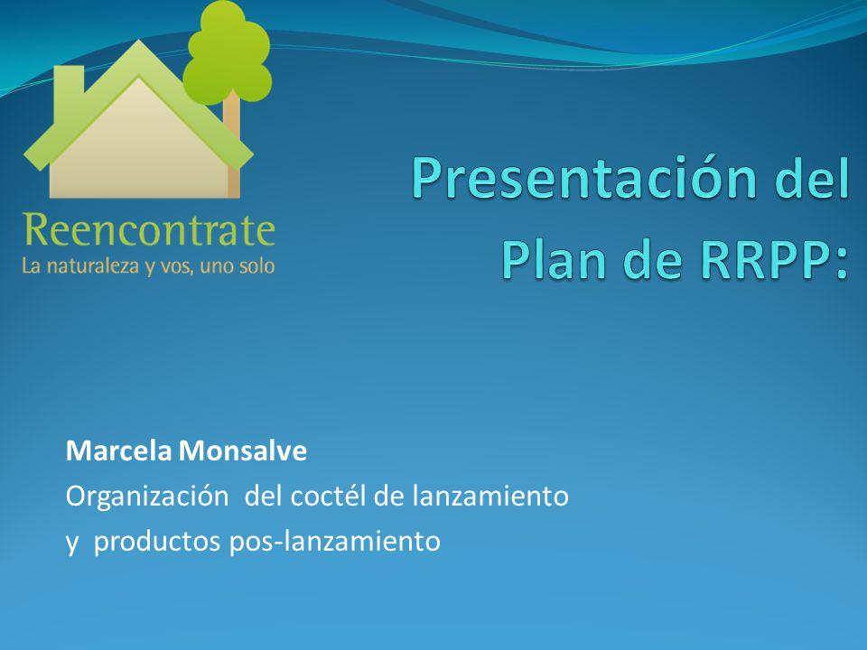 Marcela Monsalve Organización del coctél de lanzamiento y productos pos-lanzamiento