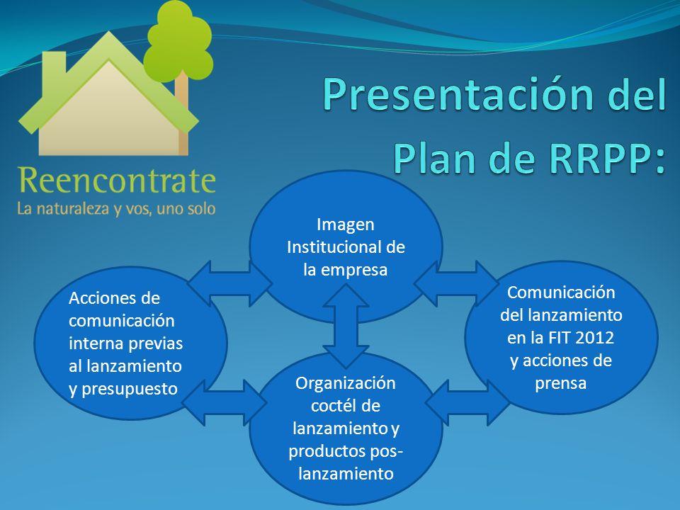 Comunicación del lanzamiento en la FIT 2012 y acciones de prensa Imagen Institucional de la empresa Organización coctél de lanzamiento y productos pos