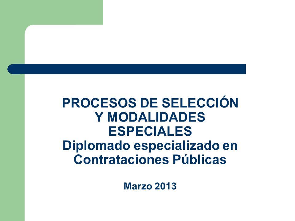 PLAZOS GENERALES PARA PROCESOS DE SELECCIÓN (Modificación Art.