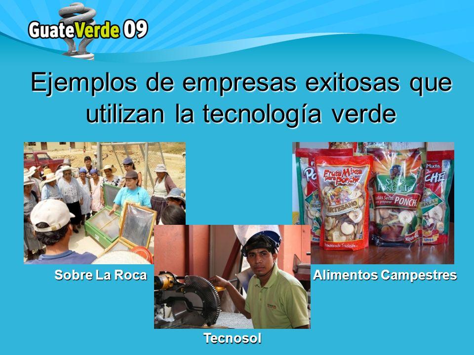 Ejemplos de empresas exitosas que utilizan la tecnología verde Sobre La Roca Alimentos Campestres Tecnosol